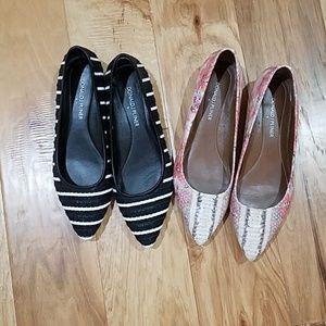 2 Pair Donald J Pliner Shoes